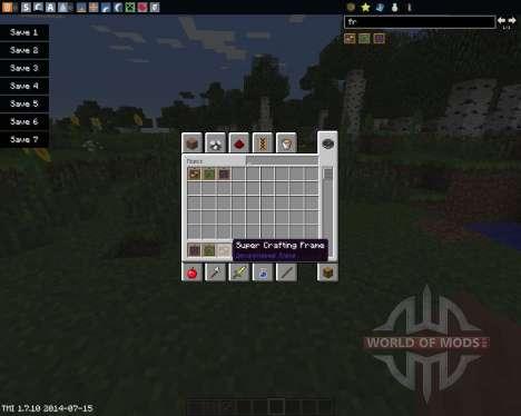 Super Crafting Frame für Minecraft