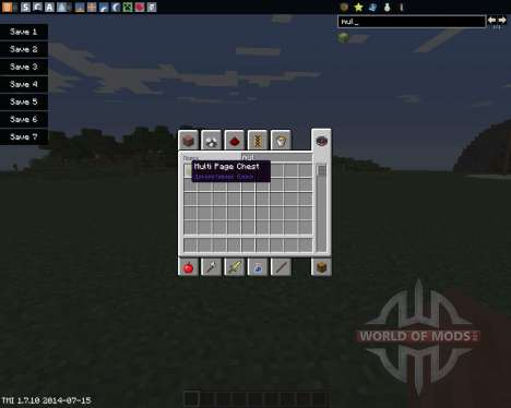 Multi Page Chest pour Minecraft