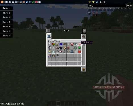 Special Armor pour Minecraft