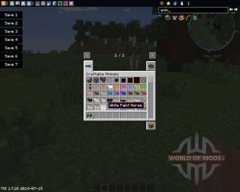 Craftable Animals pour Minecraft