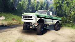 Ford F-200 1968 green and white für Spin Tires