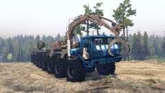 KrAZ 7E 6316 Trans-Sibérie v1.1 pour Spin Tires