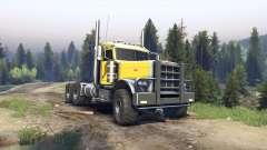 Peterbilt 379 yellow pour Spin Tires