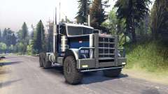 Peterbilt 379 black blue pour Spin Tires