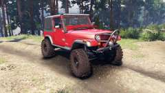 Jeep YJ 1987 red pour Spin Tires