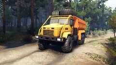 KrAZ-6322 v3.0 gelb für Spin Tires