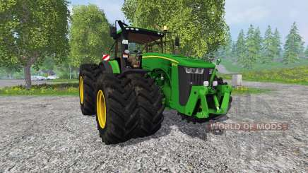 John Deere 8370R v2.0 Ploughing Spec für Farming Simulator 2015