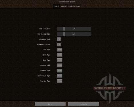 Custom Ore Generation Revival [1.6.4] pour Minecraft