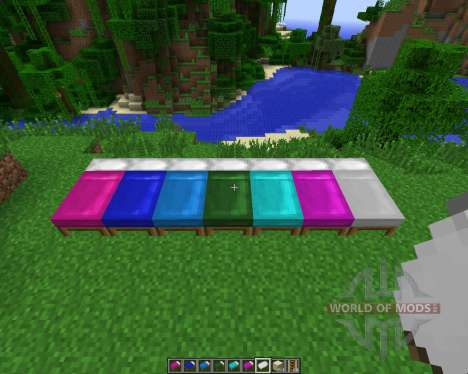 Dyeable Beds [1.7.2] pour Minecraft