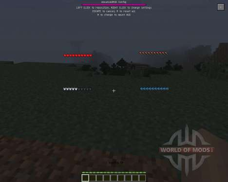 Advanced HUD [1.7.2] für Minecraft