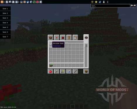 Obsidian Boat [1.6.4] für Minecraft