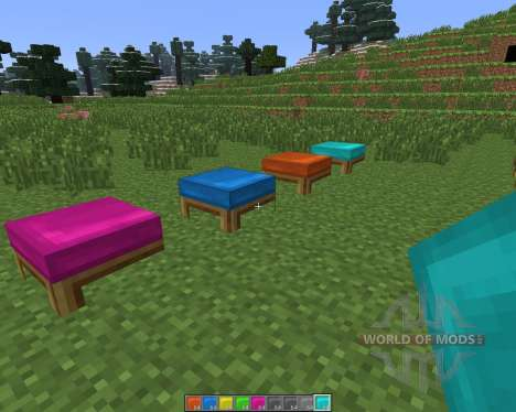 Dyeable Beds [1.6.4] pour Minecraft