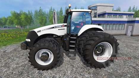 Case IH Magnum CVX 320 Dynamic8 white pour Farming Simulator 2015