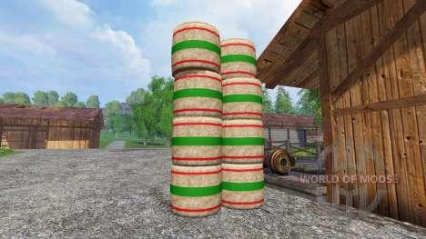 Neue Texturen strohballen für Farming Simulator 2015