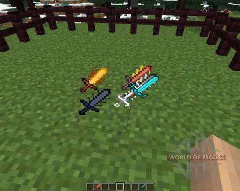 Cyan Warrior Swords [1.6.4] pour Minecraft