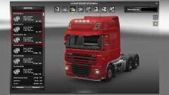 Des moteurs pour les camions DAF pour Euro Truck Simulator 2