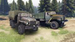 Ural-375 und 4320-01 für Spin Tires