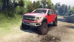 Ford Raptor SVT v1.2 factory sunset red für Spin Tires