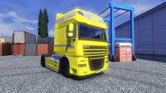 Haut Gelbe Edition für DAF XF Sattelzug für Euro Truck Simulator 2