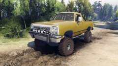 Dodge Ramcharger 1991 Open Top v1.1 olive green für Spin Tires