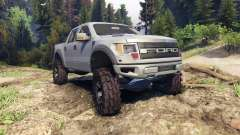 Ford Raptor SVT v1.2 matte gray pour Spin Tires
