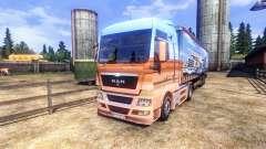 Haut-Showtruck-auf dem LKW MAN für Euro Truck Simulator 2