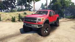Ford Raptor SVT v1.2 red-gray pour Spin Tires