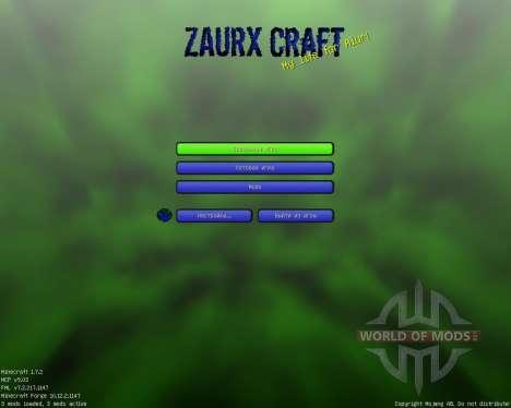 Zaurx [32x][1.7.2] pour Minecraft