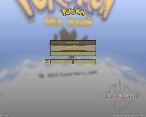 Pokemon Or [16х][1.8.1] pour Minecraft