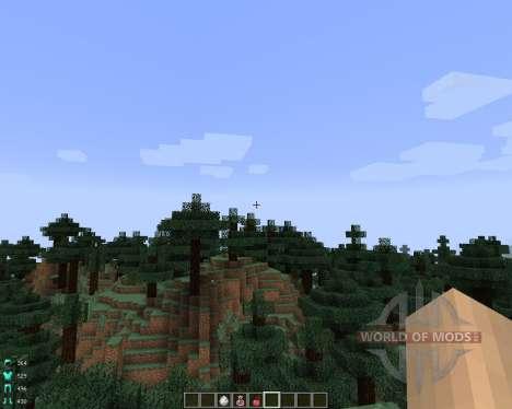 ArmorStatusHUD [1.7.2] pour Minecraft