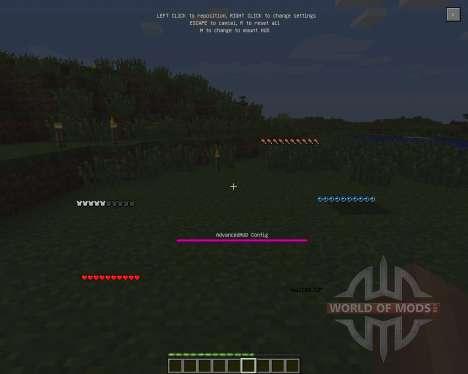 Advanced HUD [1.6.2] für Minecraft