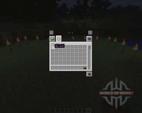 Wall Clock [1.6.2] pour Minecraft