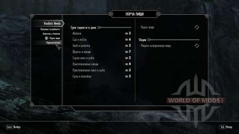 Realistisch Bedürfnisse und Krankheiten [1.9.9] für das vierte Skyrim-Screenshot