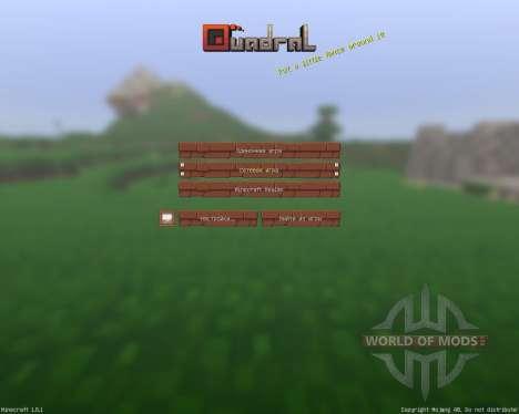 Quadral resourcepack [16х][1.8.1] pour Minecraft