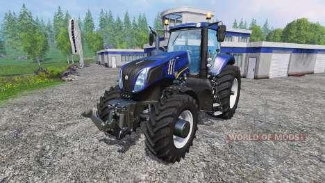 New Holland T8.320 blue black wavy v2.0 pour Farming Simulator 2015