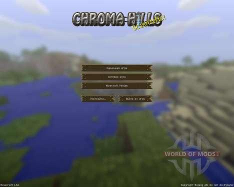 ChromaHills RPG [64x][1.8.1] pour Minecraft