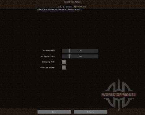 Custom Ore Generation Revival [1.7.2] für Minecraft