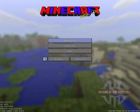 GUI [64x][1.7.2] pour Minecraft