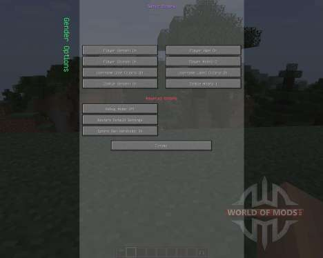 Female Gender Option [1.7.2] pour Minecraft