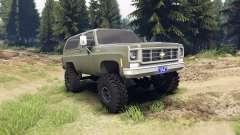 Chevrolet K5 Blazer 1975 army green für Spin Tires