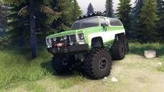 Chevrolet K5 Blazer 1975 6x6 green and white pour Spin Tires