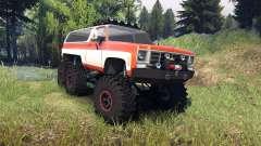 Chevrolet K5 Blazer 1975 6x6 orange and white für Spin Tires