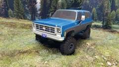 Chevrolet K5 Blazer 1975 blue and black pour Spin Tires