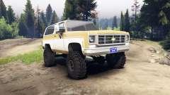 Chevrolet K5 Blazer 1975 light saddle and white pour Spin Tires