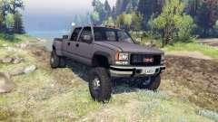 GMC Suburban 1995 Crew Cab Dually gray pour Spin Tires