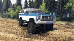 Chevrolet K5 Blazer 1975 blue and white pour Spin Tires