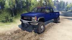 GMC Suburban 1995 Crew Cab Dually blue für Spin Tires