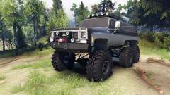 Chevrolet K5 Blazer 1975 6x6 black and silver pour Spin Tires