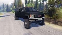 GMC Suburban 1995 Crew Cab Dually black pour Spin Tires