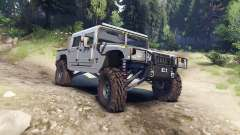 Hummer H1 silver pour Spin Tires